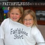 Faithfulness Shirt Lesson