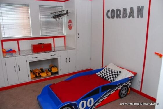 Little Boys Race Car Room