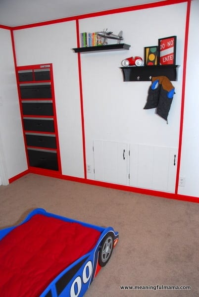 1-#garage #race car #boys room-018
