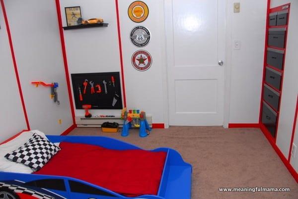 1-#garage #race car #boys room-019