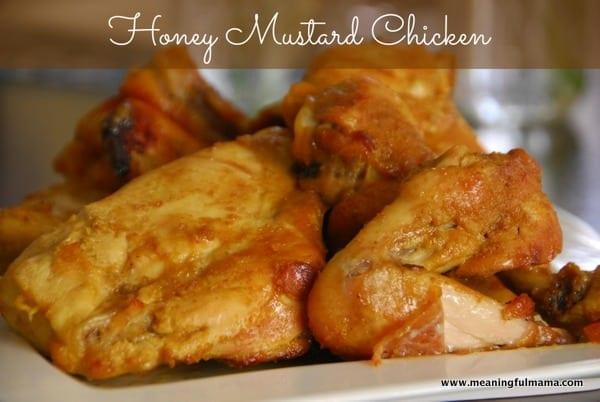 Easy Honey Mustard Chicken - Meaningfulmama.com
