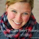 Infinity Tube Scarf from Pajama Pants Tutorial