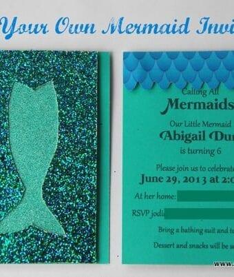 Mermaid Birthday Invitations DIY