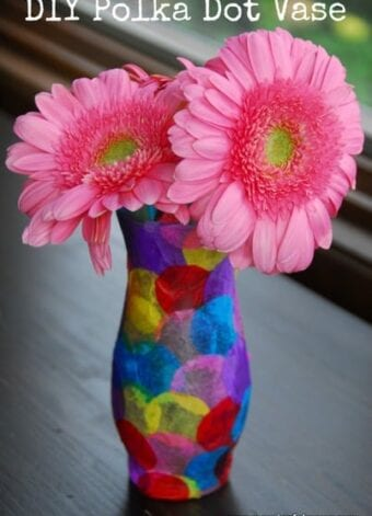 Polka Dot Vase Craft