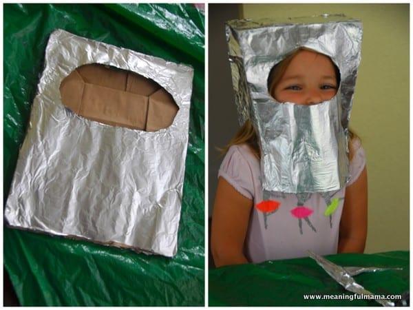1-#robot mask #diy #craft #foil