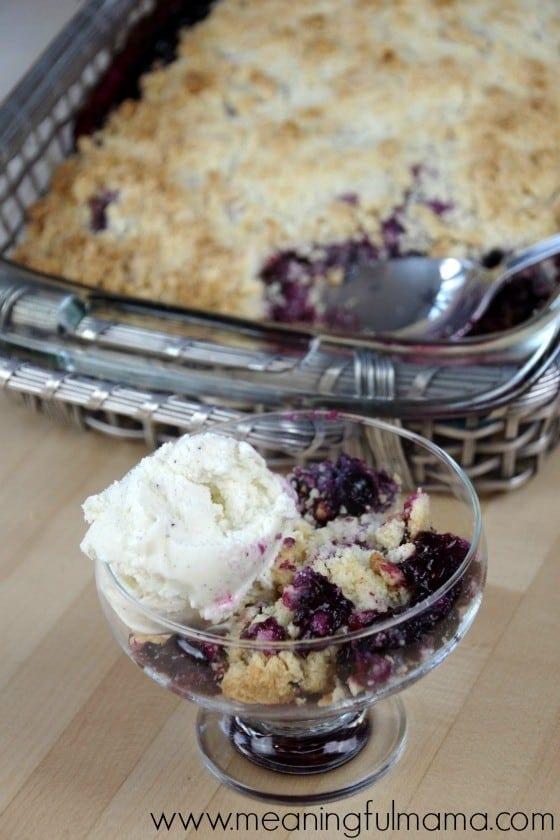 4 Ingredient Berry Crisp or Cobbler Recipe - Easy Dessert Idea Jan 22, 2016, 3-40 PM