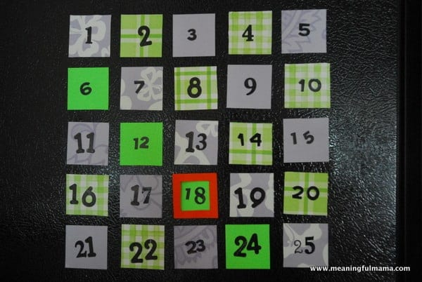 Re-Usable Magnetic Countdown Calendar