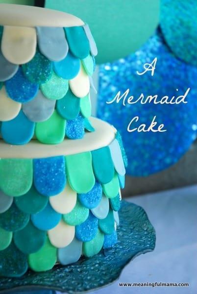 1-#mermaid #cake #decorating -010