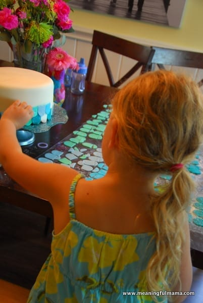 1-#mermaid party #cake #decorating-066