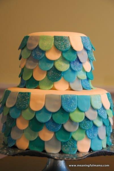 1-#mermaid party #cake #decorating-077