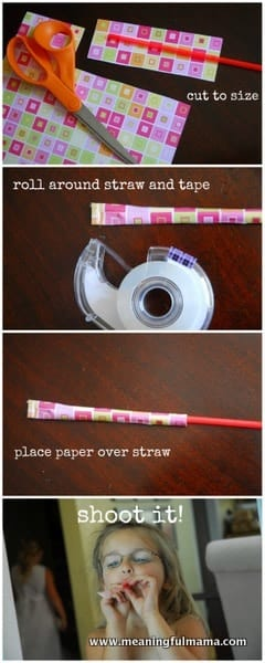 1-#straw and paper #shooters #crafts #kids