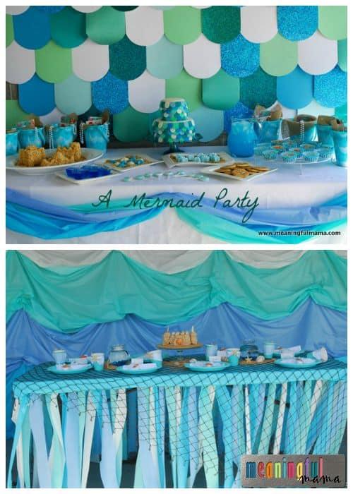 Mermaid Birthday Party Ideas - Food, Table, Decorations