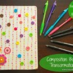 Transforming Composition Books into Journals and Writing with Bic Atlantis® Pens