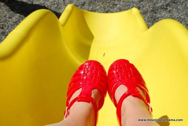 Red Jelly Shoes New Look