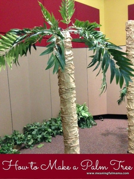 Pin vbs decorations cake on pinterest for Palm tree decorations for the home
