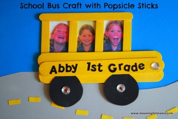 1-#school bus #popsicle stick #craft for kids-003