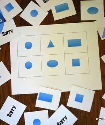 Shape Lotto Teaches Shapes to Kids