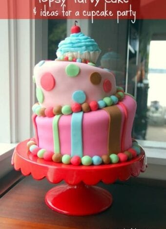 Topsy Turvy First Birthday Cake