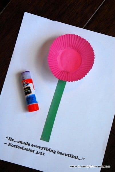 1-#Cupcake Liner #flower #craft #Cubbies #Bear Hug 3-004