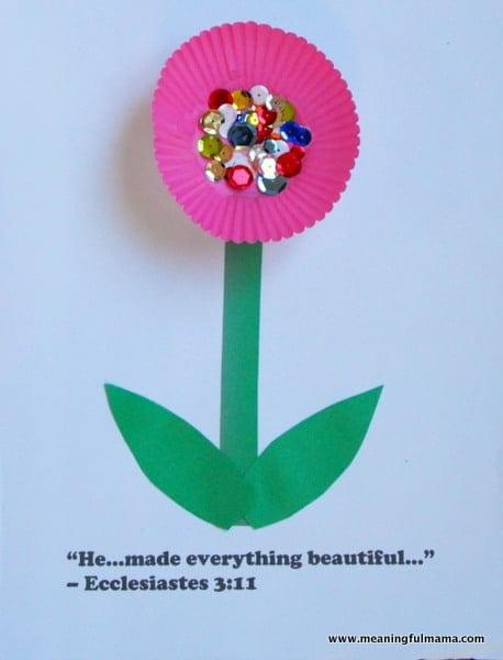 1-#Cupcake Liner #flower #craft #Cubbies #Bear Hug 3-006