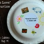 """God is Love"" Tambourine – Cubbies Bear Hug #1 Craft"
