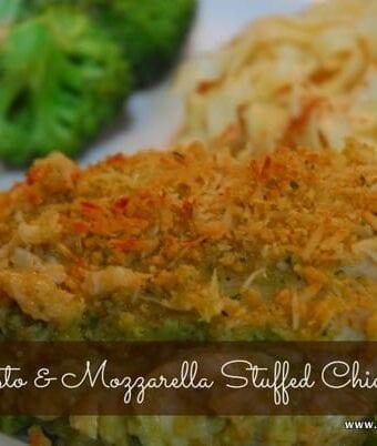 Pesto and Mozzarella Stuffed Chicken