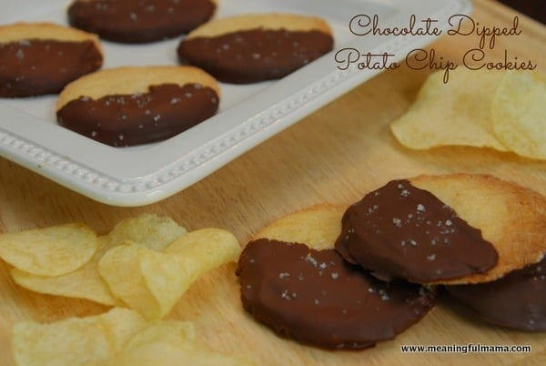 Chocolate-dipped Potato Chip Cookies Recipe — Dishmaps