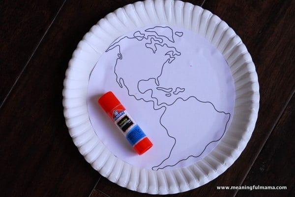 1-#world craft #paper plate #Cubbies #Bear Hug #2-007