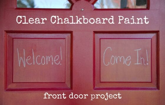 Chalkboard Paint on Front Door