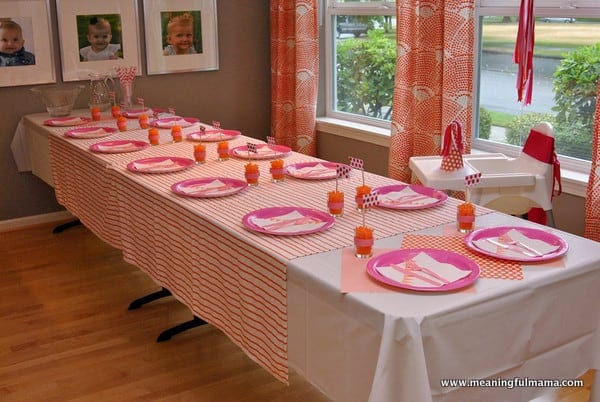 1st Birthday Party Table Setup Image Inspiration of Cake and