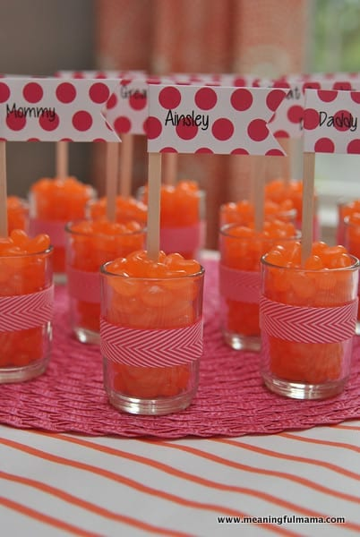 1-#first birthday #ideas #pink #orange
