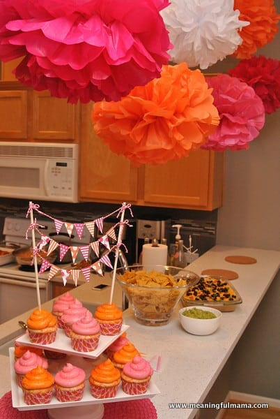 1-#first birthday #ideas #pink #orange13