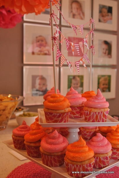 1-#first birthday #ideas #pink #orange15