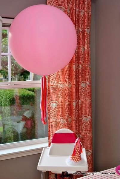 1-#first birthday #ideas #pink #orange6