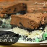 No Bake Triple Layer Ice Cream Cake