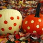 Two-Toned Polka Dot Pumpkins
