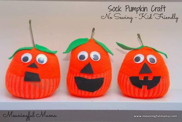 Sock Pumpkin Craft