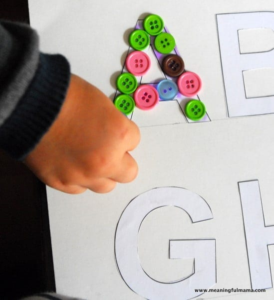 1-#texture alphabet #craft #teaching kids #elmers academy-029