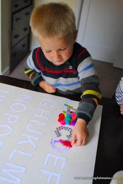 1-#texture alphabet #craft #teaching kids #elmers academy-036