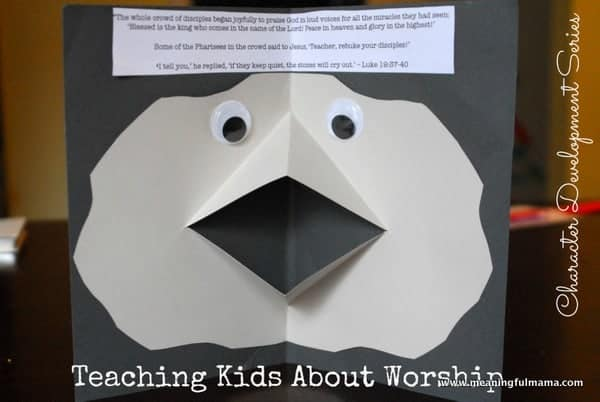 1-#worship #teaching kids #how to make a paper mouth-066