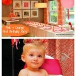 Pink and Orange First Birthday Party