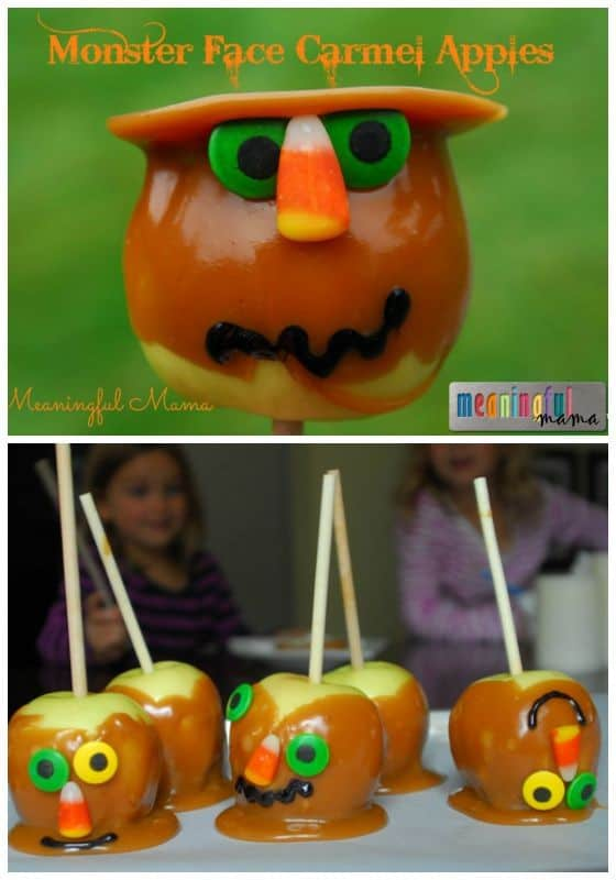 Monster Face Carmel Apples