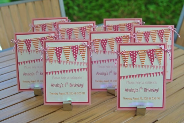 #first birthday #orange #pink #ideas-001