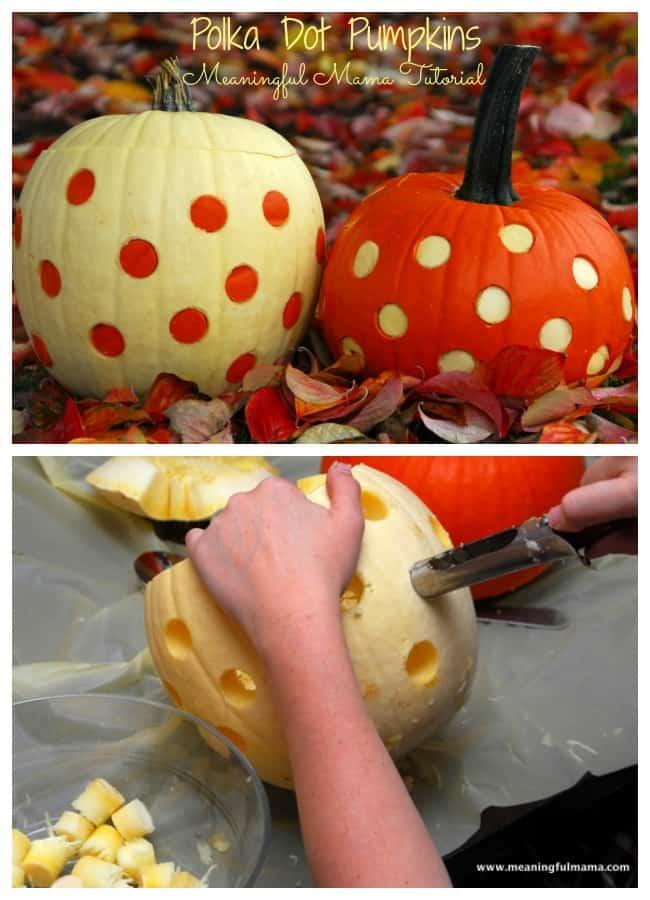 polka dot pumpkin carving ideas