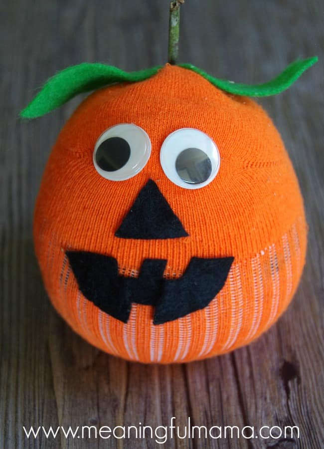 pumpkin jack o lantern craft ideas socks