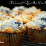 Blueberry Muffins with a Crumb Topping