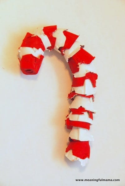 1-candy cane craft egg carton meaning of candy cane