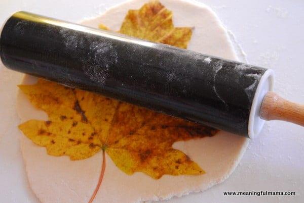 salt dough leaf bowls - Halloween Salt Dough Crafts