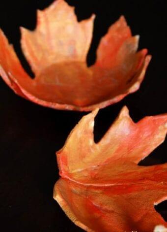Salt Dough Leaf Bowls