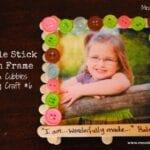 Popsicle Stick Button Frame – AWANA Cubbies Bear Hug Craft #6